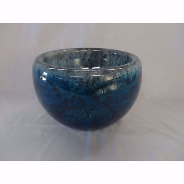 Picture of Silver Blue Glass Bowl