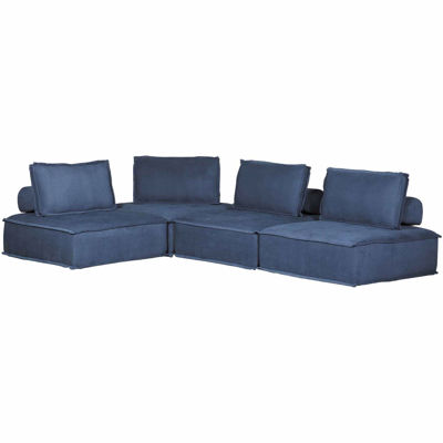Picture of Ashton Navy 4 Piece Sectional