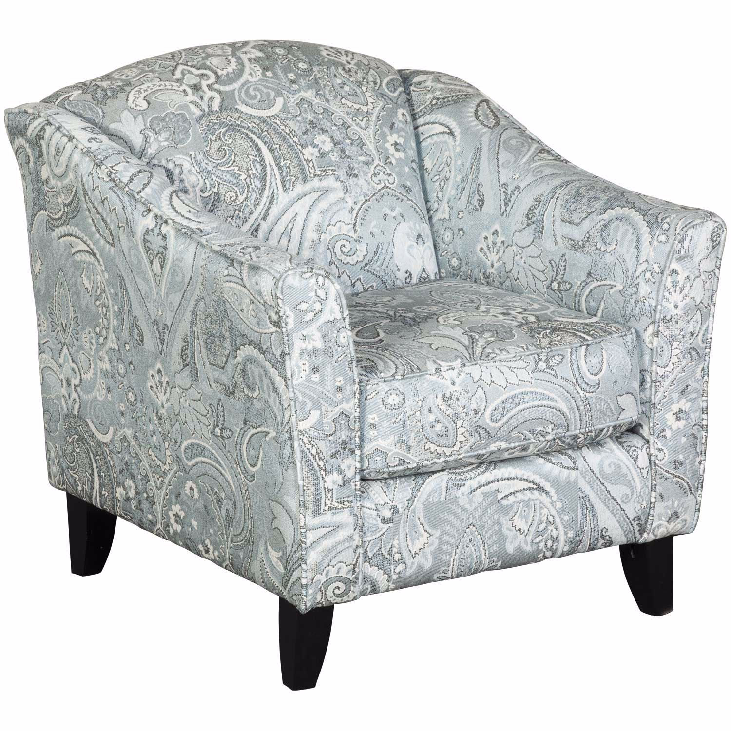 Picture of Hamptons Light Blue Paisley Accent Chair