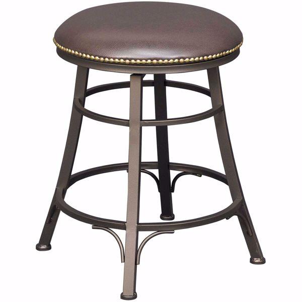 "Picture of Bali 24"" Backless Swivel Barstool"