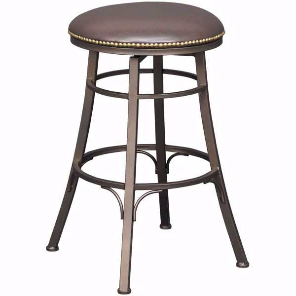 """Picture of Bali 30"""" Backless Swivel Barstool"""