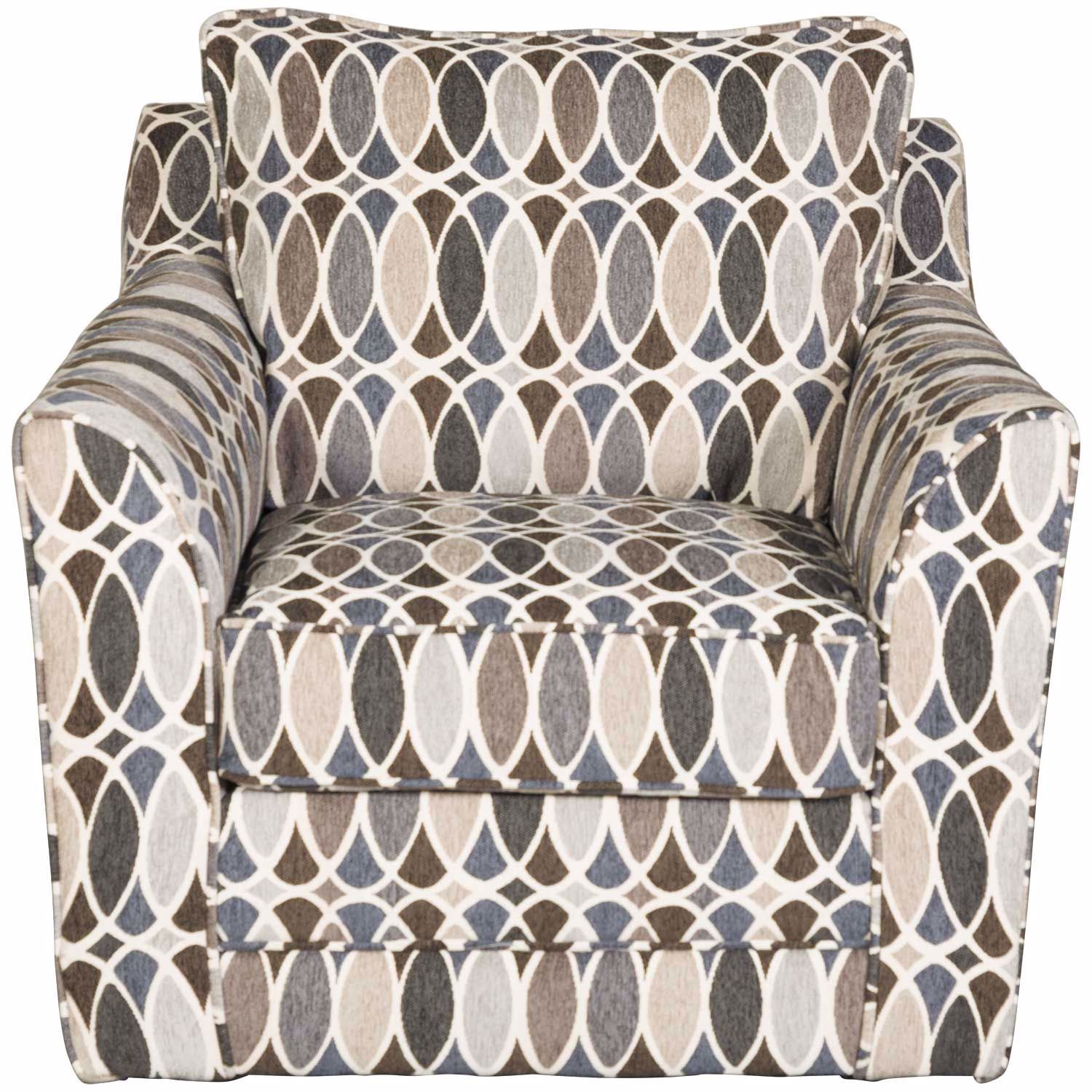 Picture of Declan Deco Shapes Accent Swivel Chair
