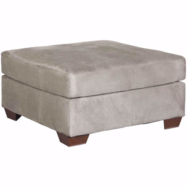 Picture of Darcy Cobblestone Gray Cocktail Ottoman