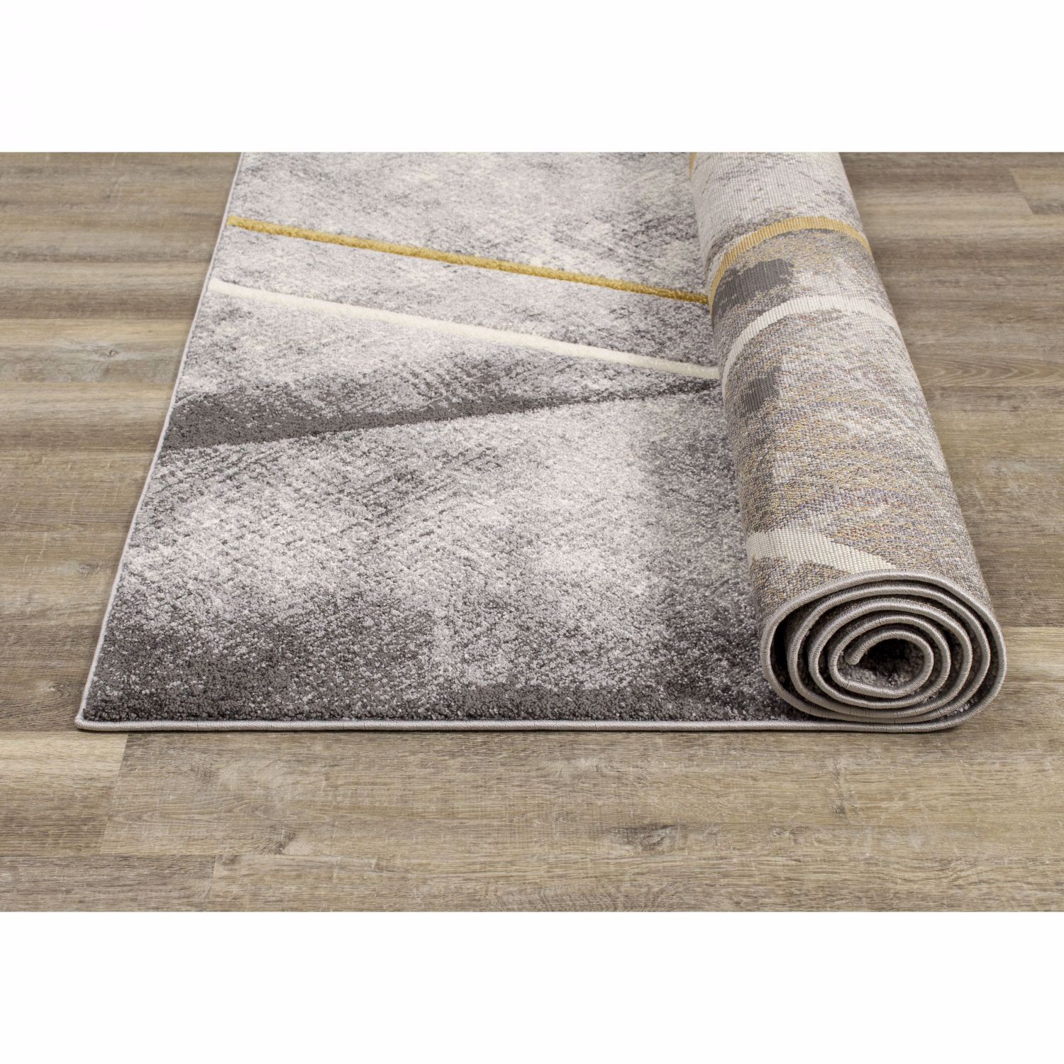 Picture of Grey Gold Graphic 5x8 Rug