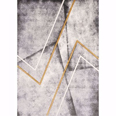 Picture of Grey Gold Graphic 8x10 Rug