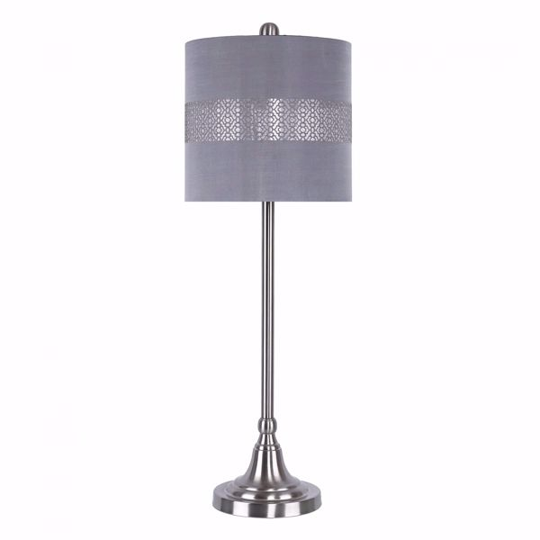 Picture of Nickel Buffet Lamp With Design Shade
