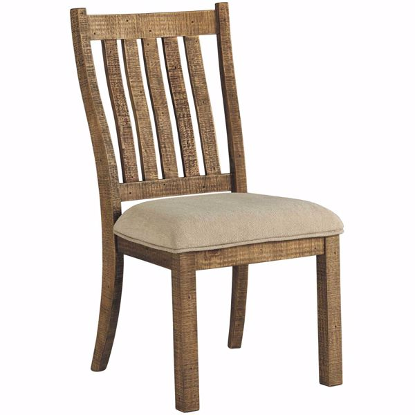 Picture of Grindleburg Brown Slat Back Side Chair