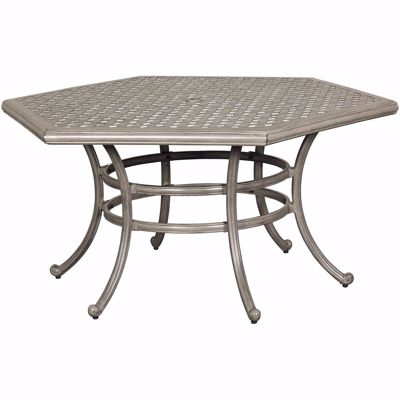 """Picture of Macon 54"""" Hexagon Patio Table"""