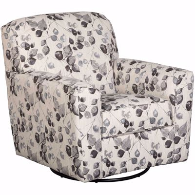 Picture of Abney Platinum Leaves Swivel Accent Chair