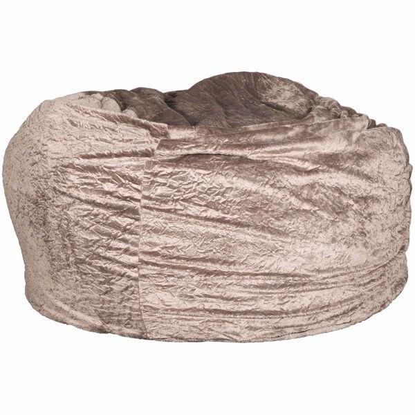 Picture of Brown Faux Fur Memory Foam Lounge Bag