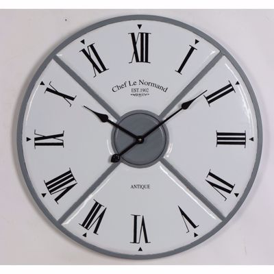 Picture of White Grey Wall Clock