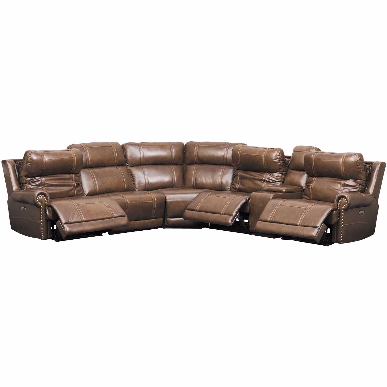 Picture of Sullivan 6PC Leather Power Reclining Sectional