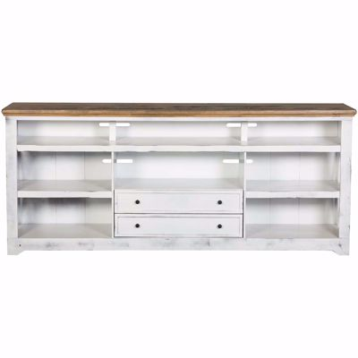 "Picture of Qatar 84"" TV Stand, White"
