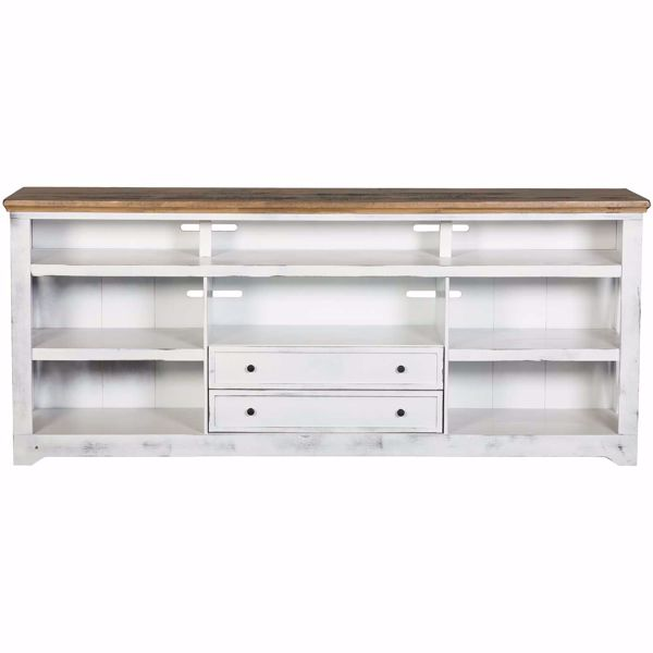 """Picture of Qatar 84"""" TV Stand, White"""