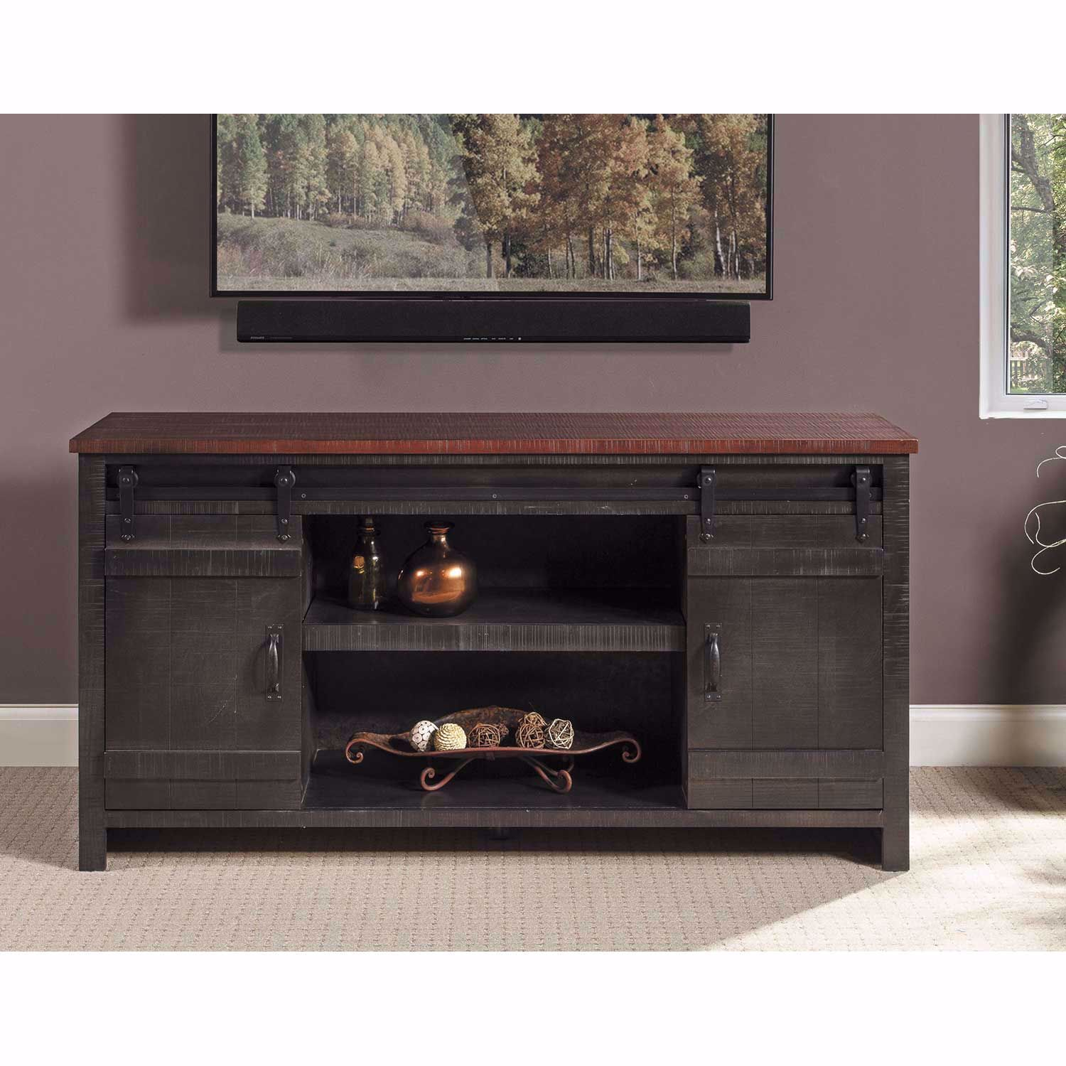"Picture of Descanso 84"" Highboy Barn Console, Charcoal"