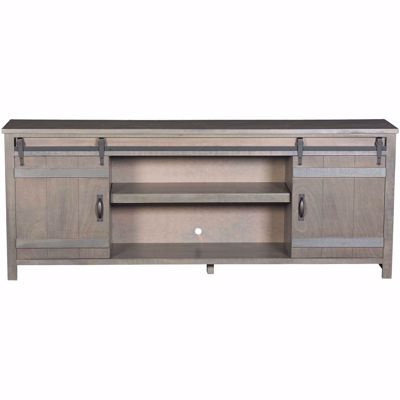 "Picture of Descanso 84"" Highboy Barn Console, Rain Gray"