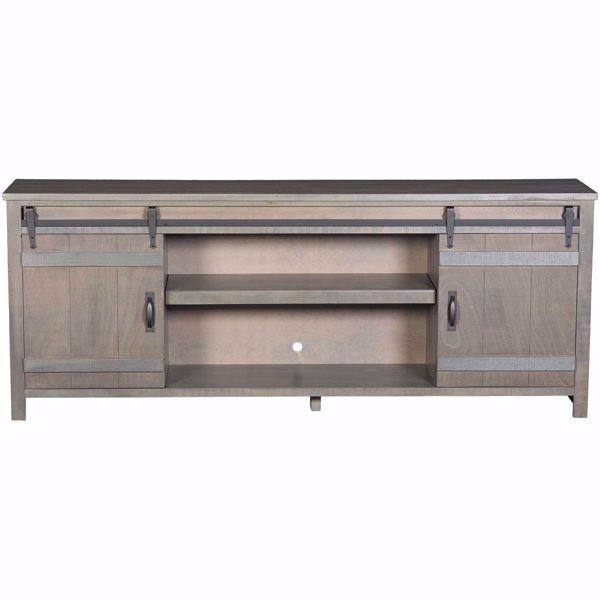 """Picture of Descanso 84"""" Highboy Barn Console, Rain Gray"""