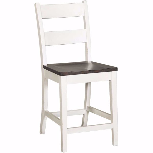 "Picture of Bourbon Two-Tone 24"" Barstool"