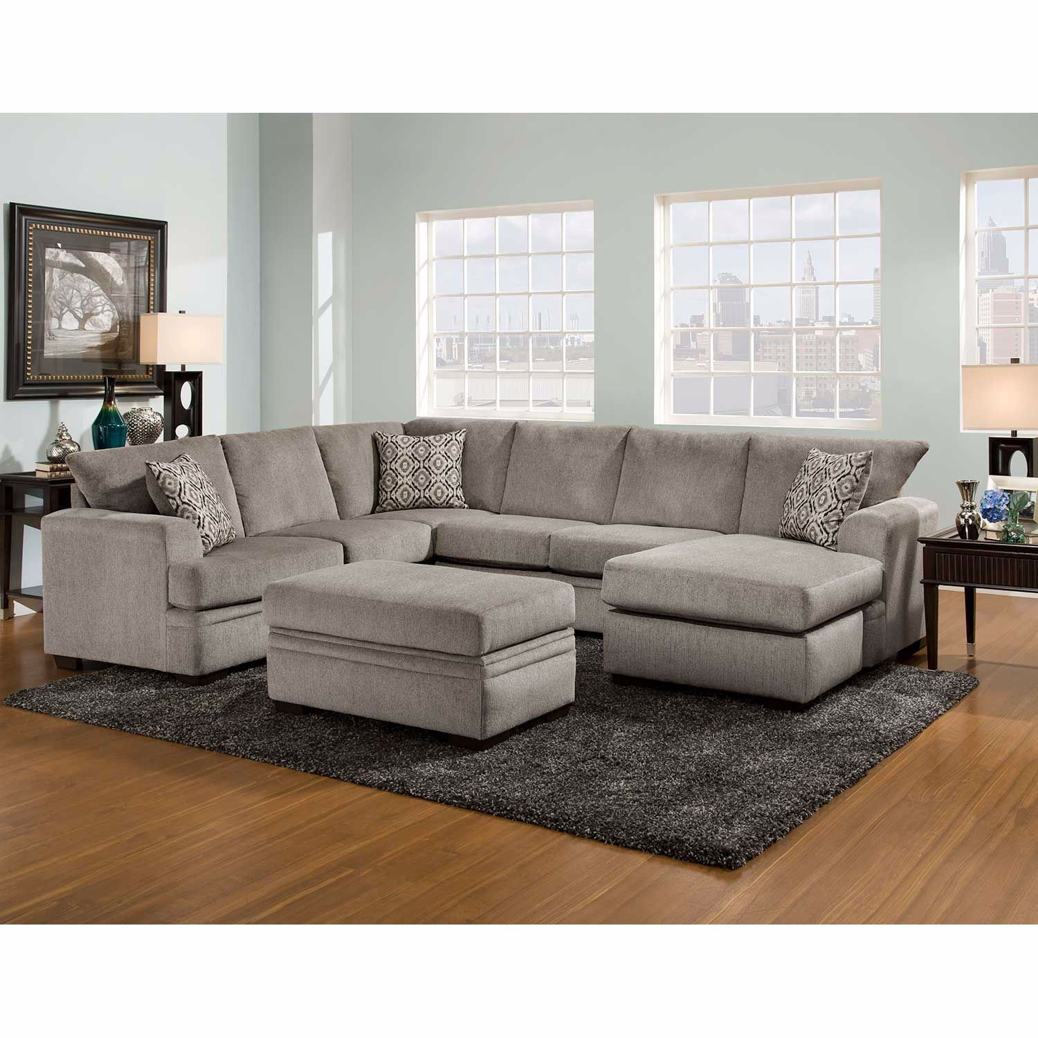 Picture of 2PC LAF Pewter Sectional w/Chaise