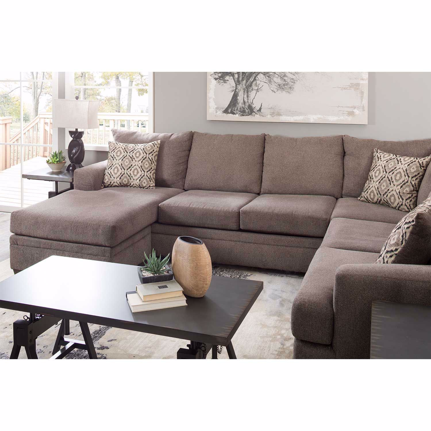 Picture of 2PC Pewter RAF Sectional w/Chaise