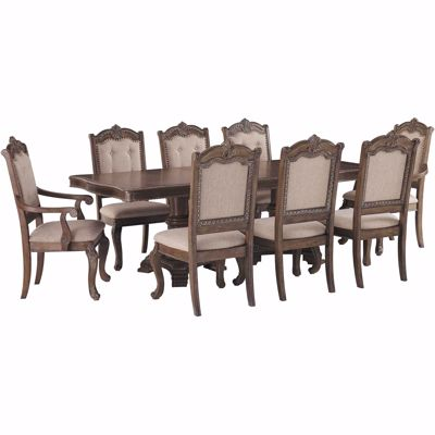 Charmond 9 Piece Dining Set D803 55tbl 2 01a 6 01 Ashley Furniture Afw Com