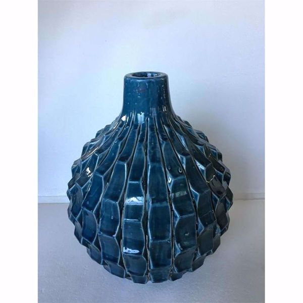 Picture of Blue Vase With Texture