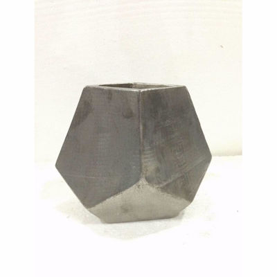 """Picture of Angled Silver Vase 7"""""""