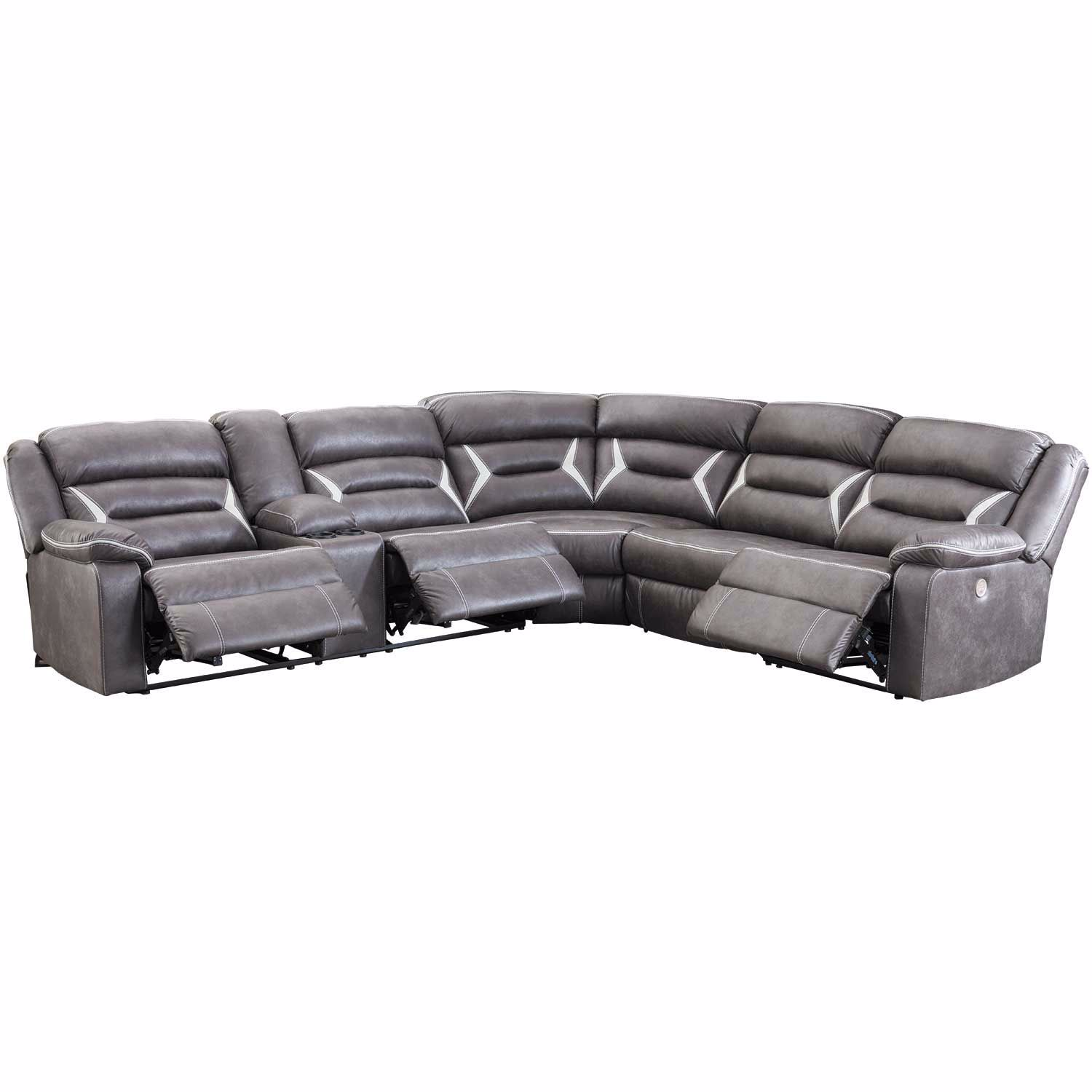 Picture of Kincord 4PC Power Recline Sectional with LAF Conso