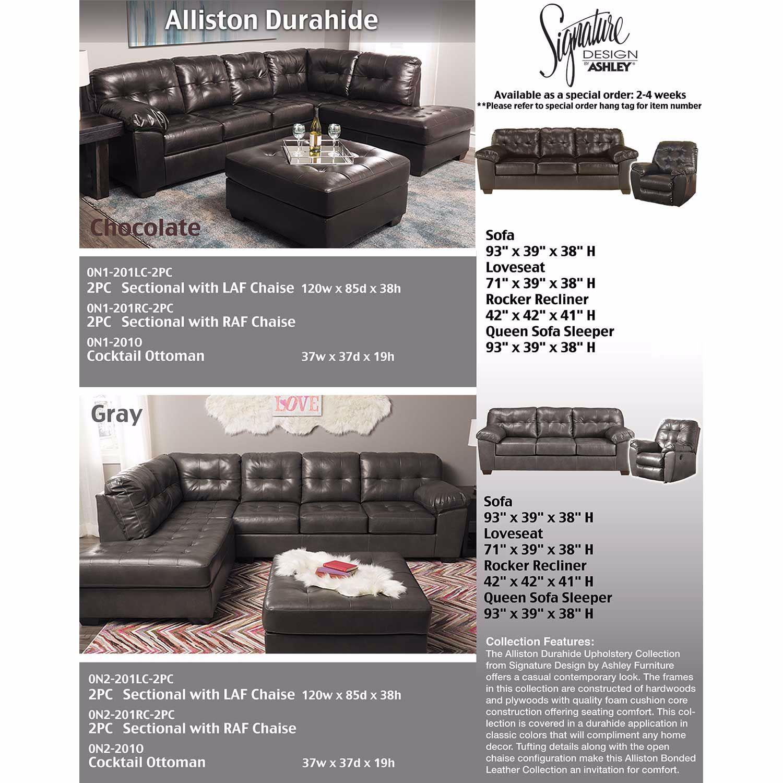 Alliston Chocolate Cocktail Ottoman 0n1 201o 2010108 Ashley Furniture Afw Com