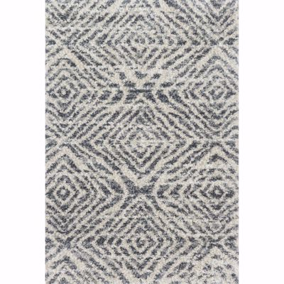 Picture of Quincy Graphite Sand Diamond 5x8 Rug
