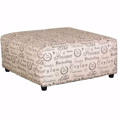 Picture of Aleyna Script Cocktail Ottoman