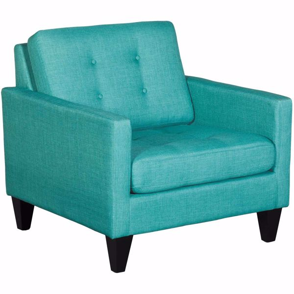 Picture of Petrie Teal Tufted Accent Chair