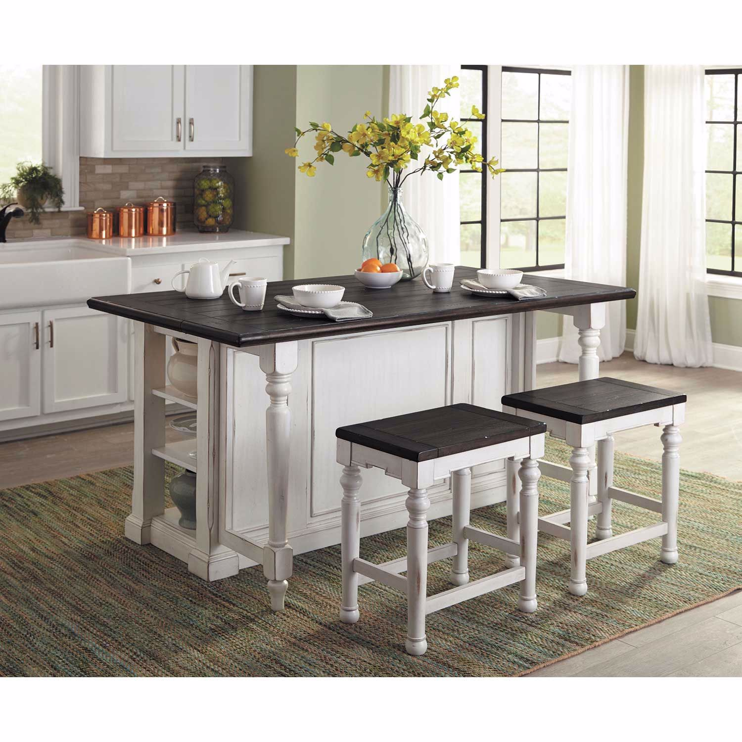 French Country Kitchen Island T1016ec T T 1016ec B Sunny Designs Afw Com