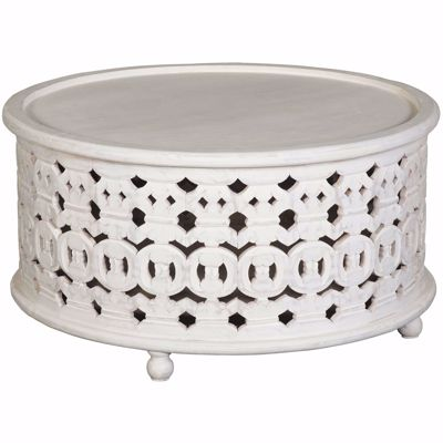 Picture of White Wash Cocktail Table