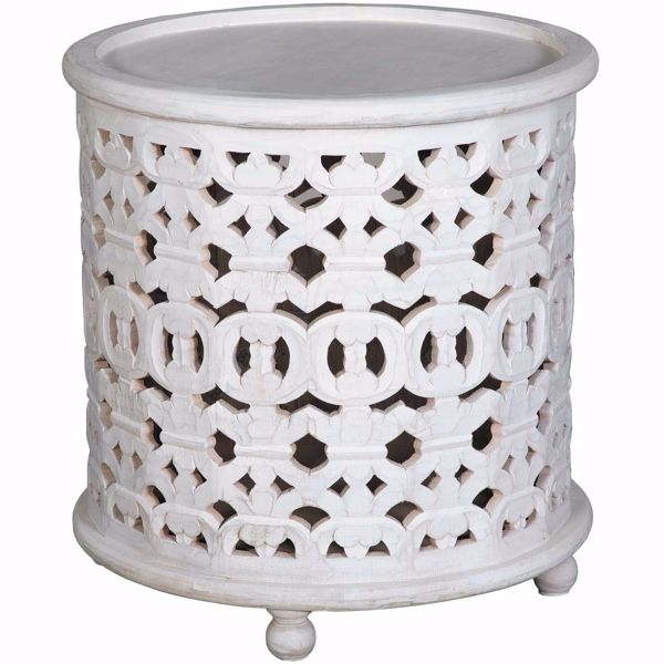 Picture of White Wash End Table