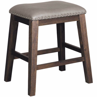 Picture of Dark Walnut 24 Inch Backless Barstool