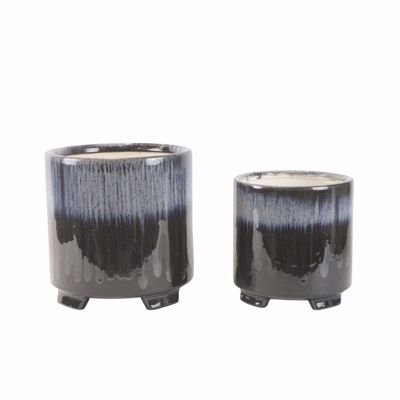 Picture of Set 2 Ceramic Planters Footed