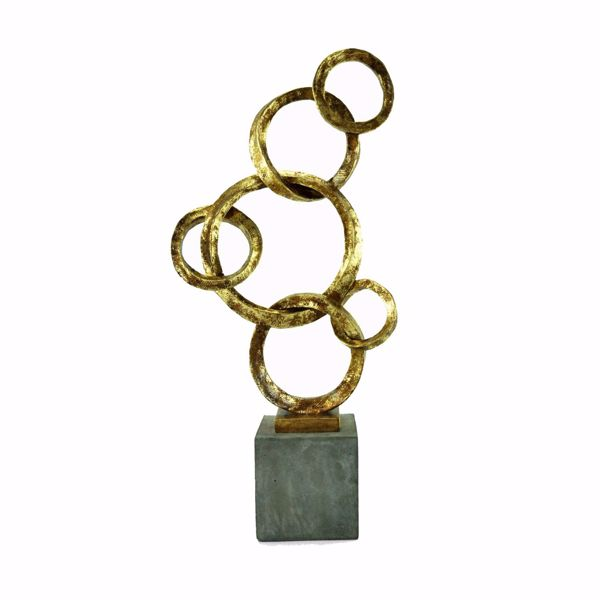 Picture of Gold Ring Sculpture