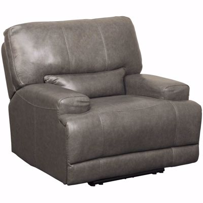 Picture of Jax Gray Leather Power Recliner