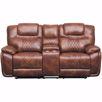 Picture of Astro Reclining Console Loveseat