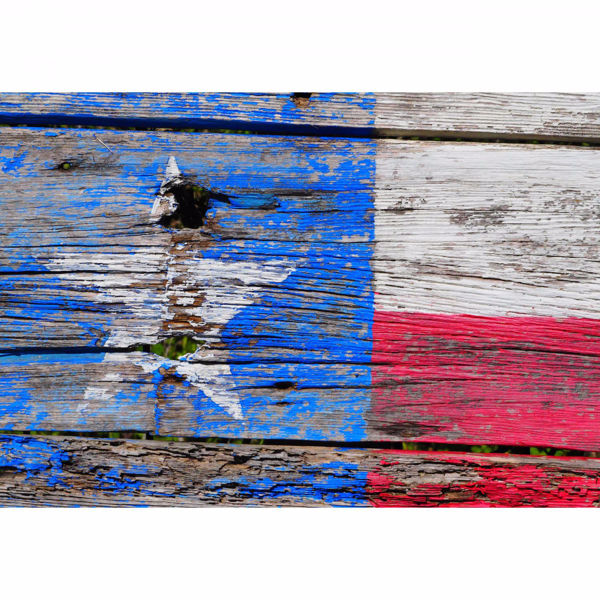 Picture of Texas Wood Flag 24x36 *D