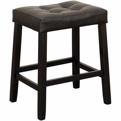 "Picture of Portmen 24"" Black Saddle Stool"