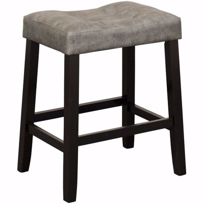 "Picture of Portman 24"" Grey Saddle Stool"