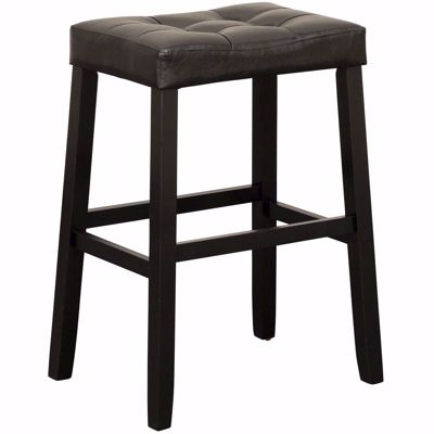 "Picture of Portman 30"" Black Saddle Stool"