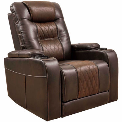 Picture of Composer Brown Power Recliner with Adjustable Headrest