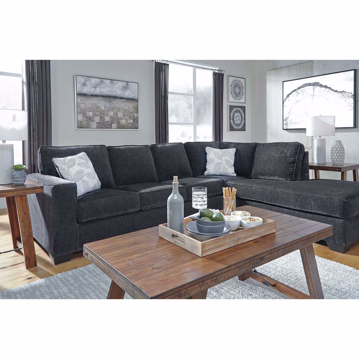 Picture of Altari Slate 2 PC Sleeper Sectional with LAF Chais