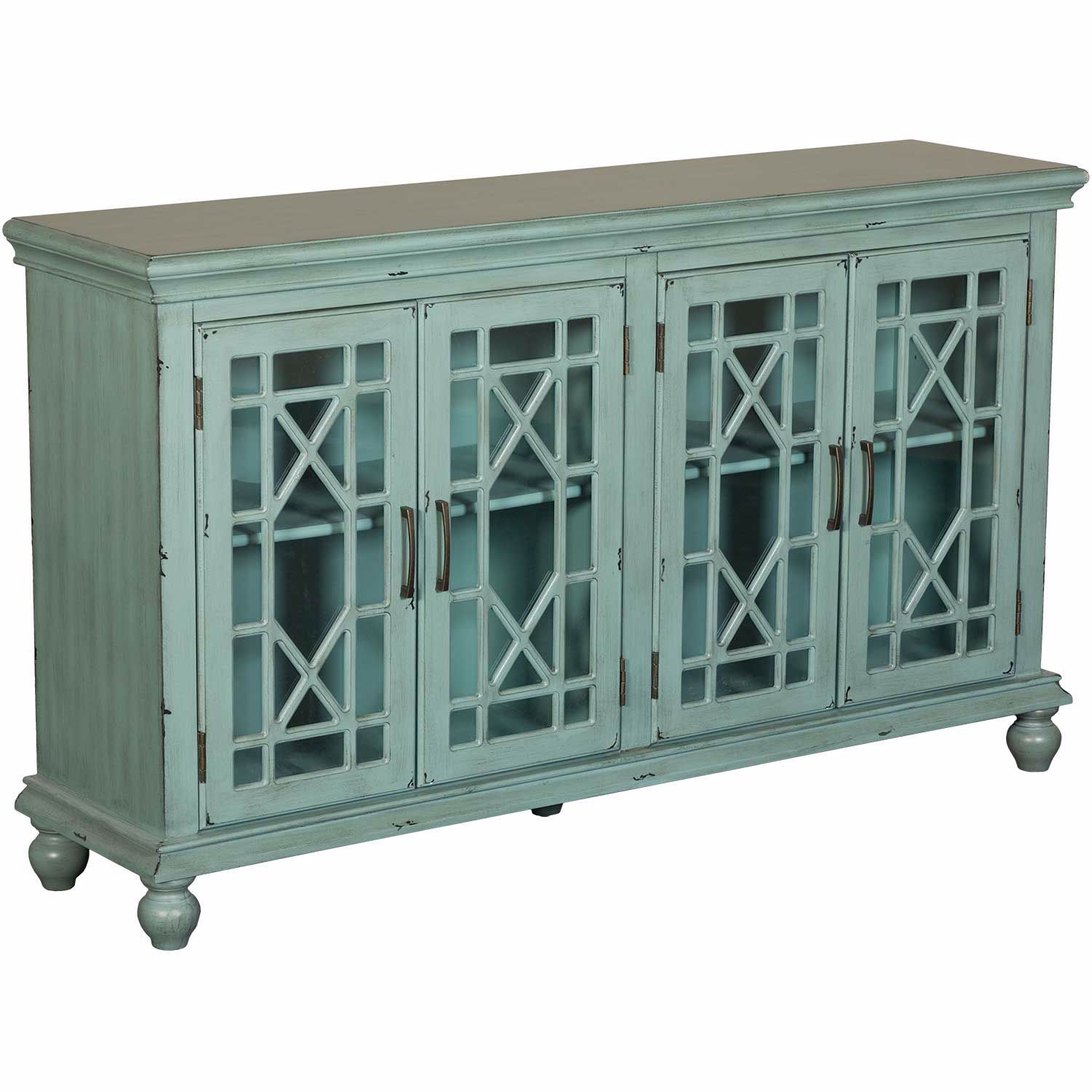Picture of Teal Four Door Cabinet