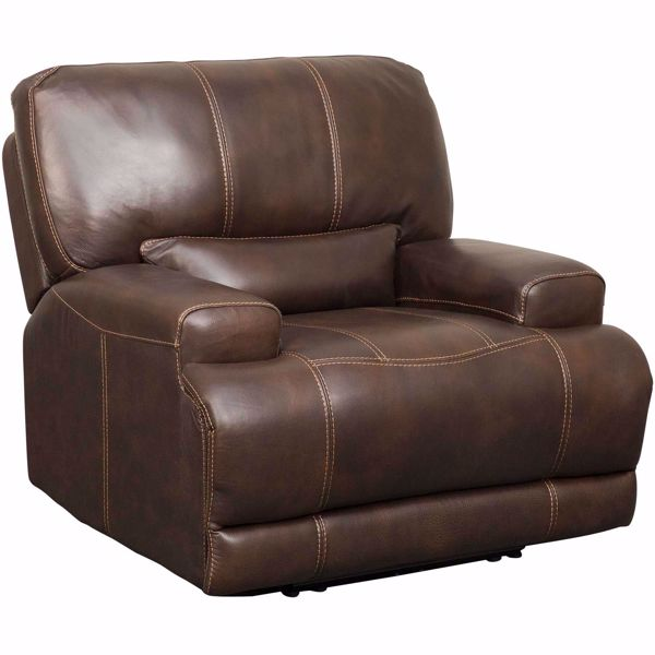 Picture of Jax Brown Leather Power Recliner