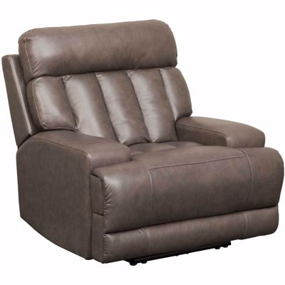 Picture of Steel Leather Power Recliner with Adjustable Headr