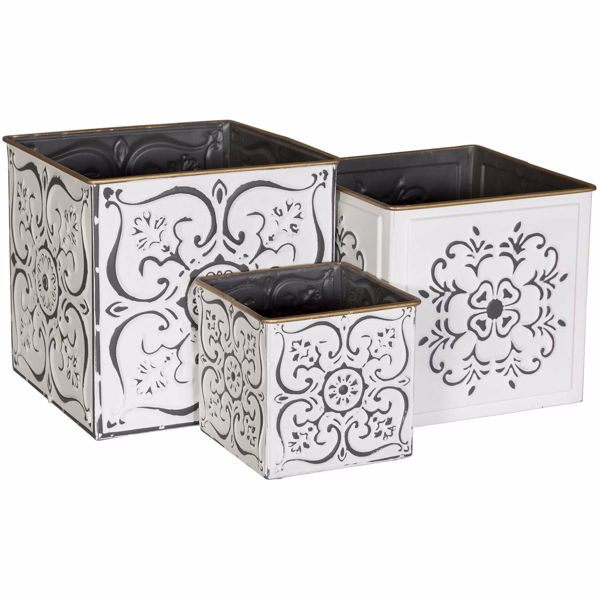 Picture of White Square Containers
